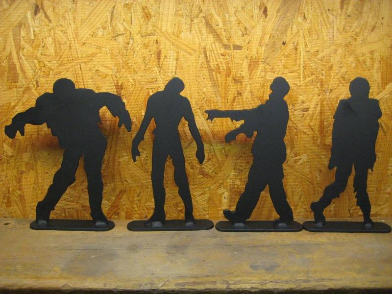 "5"" tall zombies 1/8"" thick set of 4 zombie"