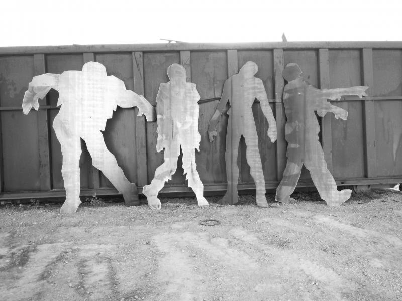Zombies walking dead killer monster shooting targets